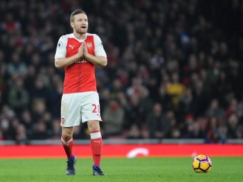 Arsene Wenger provides injury updates on Shkodran Mustafi, Danny Welbeck, Theo Walcott, Kieran Gibbs and Alex Oxlade-Chamberlain