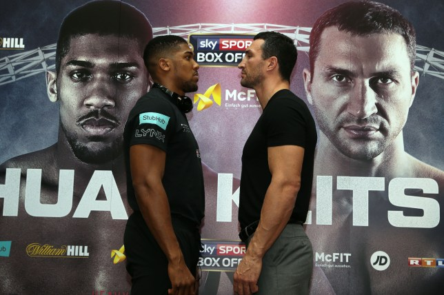 5a5354f4fc7 Anthony Joshua and Wladimir Klitschko faced off during the press conference  on Wednesday (Picture  Getty)