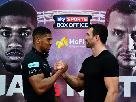 Maybe not such best buds: Three things we noticed at the Anthony Joshua Wladimir Klitschko press conference