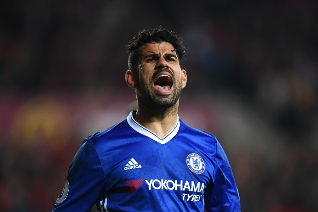 SUNDERLAND, ENGLAND - DECEMBER 14: Diego Costa of Chelsea reacts during the Premier League match between Sunderland and Chelsea at Stadium of Light on December 14, 2016 in Sunderland, England. (Photo by Laurence Griffiths/Getty Images)