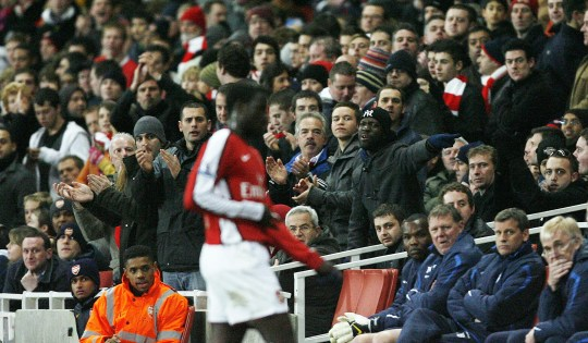 Image result for eboue booed