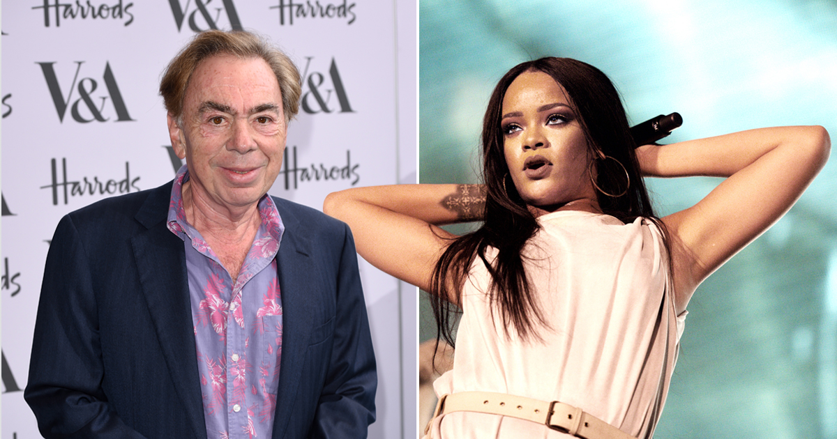 Andrew Lloyd Webber claims he discovered Rihanna while on holiday 12 years ago
