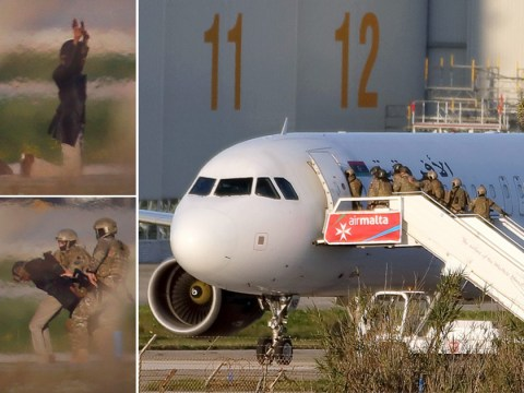 Libyan plane hijackers were carrying fake guns and grenades