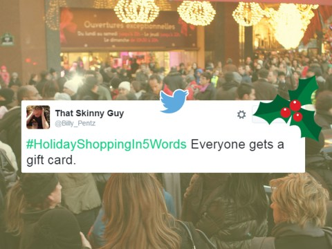 People are summing up their Christmas shopping experiences in 5 words