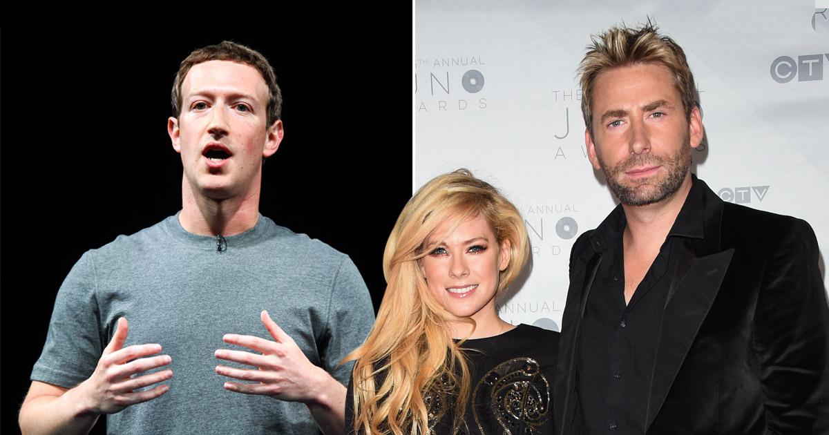 Avril Lavigne defends Nickelback after Mark Zuckerberg mocks band in Facebook video
