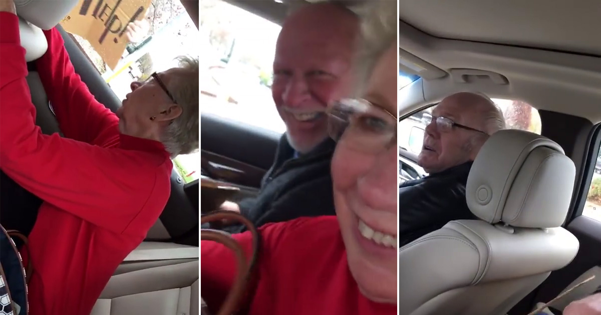 This 60-year-old paid a surprise visit to his elderly parents and their joy is as pure as it comes