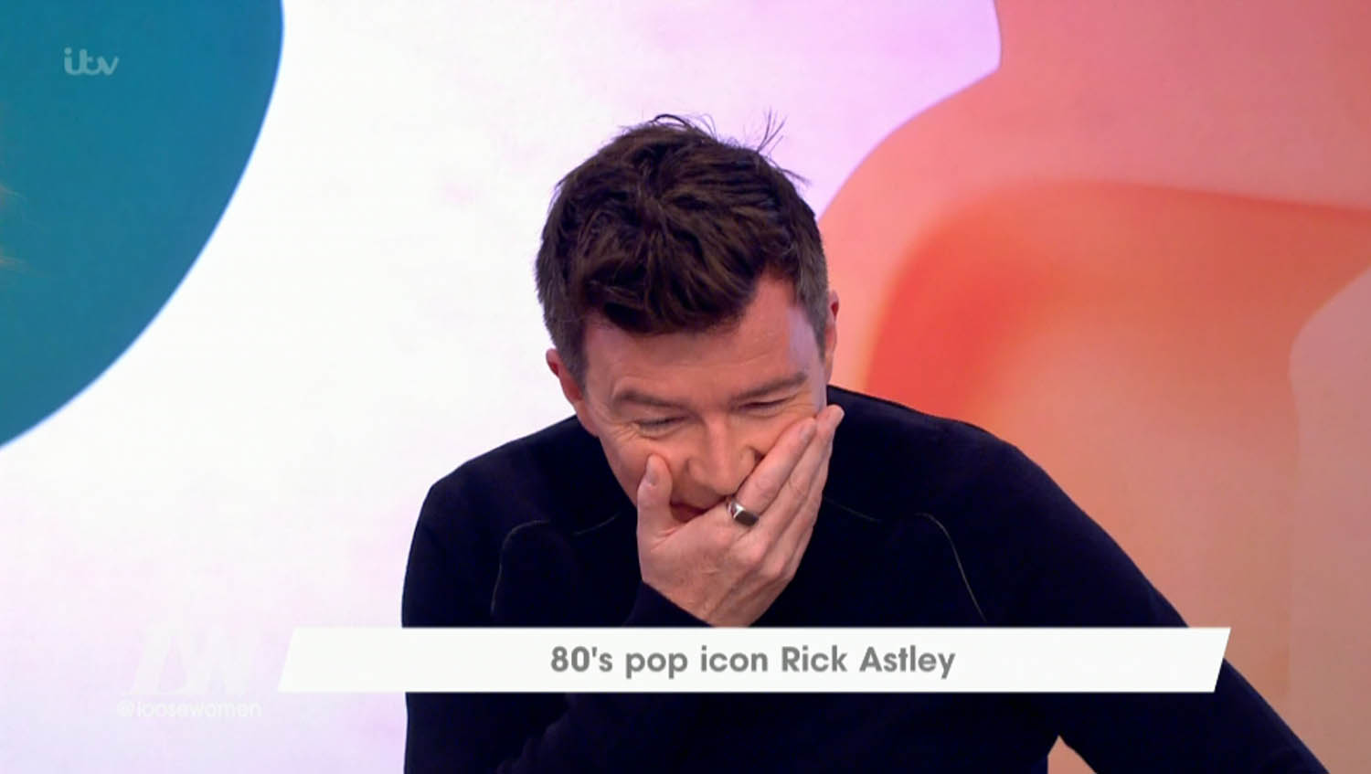 80s pop icon Rick Astley goes on Loose Women, mistakes it for The One Show. Awkward