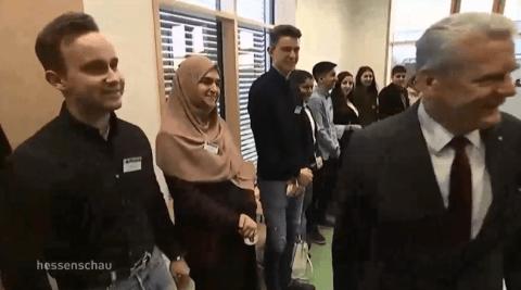Why Muslim girl wouldn't shake German president Joachim