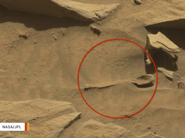 Is this 'spoon' a sign of intelligent life on Mars?