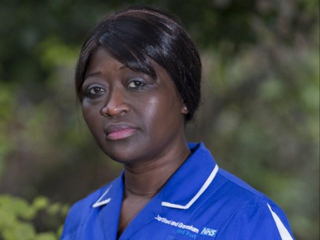 Nurse Sarah Kuteh of Bexley in Kent ***Pic by David McHugh / Brighton Pictures 07768 721637***