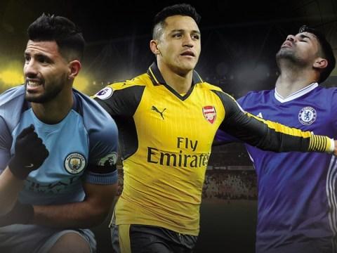 Diego Costa, Alexis Sanchez and Sergio Aguero in good shape to win Premier League golden boot