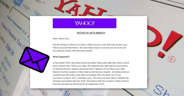 Yahoo urges its 500 million users to change their passwords