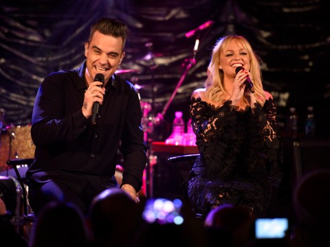 WATCH: Emma Bunton joins Robbie Williams on stage for amazing duet of 2 Become 1