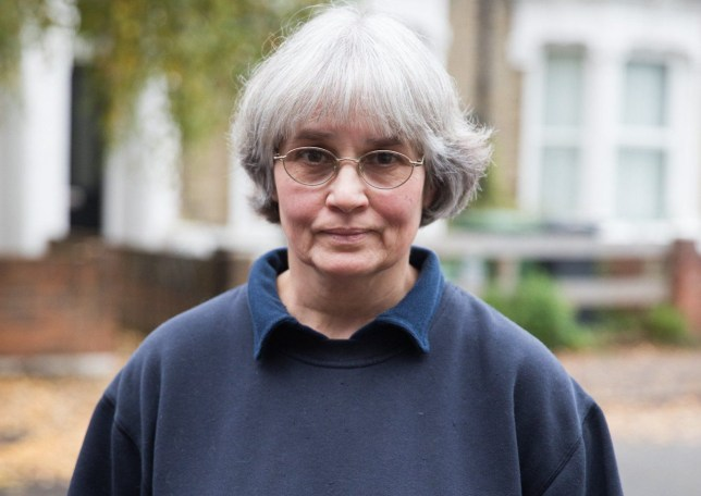 'ASBO Anne' Maple at her home in London. See SWNS story SWASBO; A 61-year-old 'ASBO' gardener says she's facing eviction after neighbours complained about her 15 times - for 'crimes' including moving bins and supporting BREXIT. Softly-spoken Anne Maple, who runs a card-making business, says she's a kindhearted community stalwart and everyone on her street loves her. But over the past seven years, she's been sent eight antisocial behaviour notices by the council telling her off for 15 'crimes' - from feeding foxes to spreading gossip. Three have ordered her to stop interfering with dustbins - including banning her from stacking a neighbour's recycling box inside her black bins.