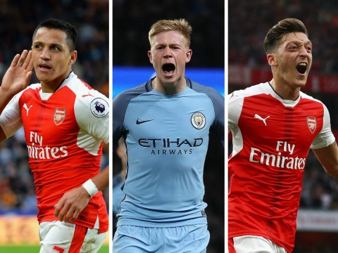 Manchester City and Arsenal combined XI, with Alexis Sanchez and Sergio Aguero in incredible attack