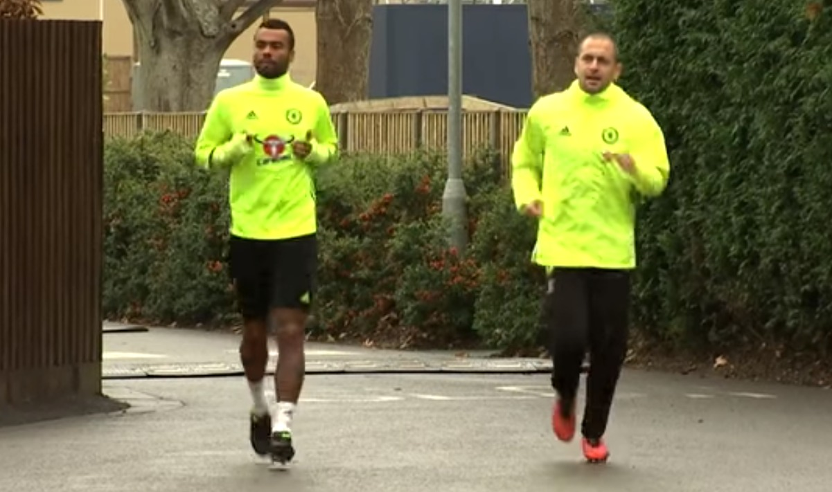 Chelsea heroes Ashley Cole and Joe Cole make glorious return to training at Cobham