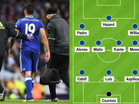 How could Chelsea line-up without Diego Costa?