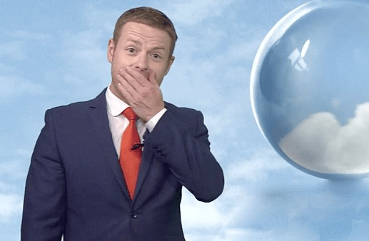 Tomasz Schafernaker sounded a little under the weather (Picture: BBC News)
