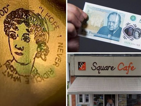 Someone has found one of the five pound notes worth £50,000