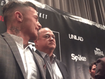 James Gallagher tried to get into Anthony Taylor's head at Bellator 169/BAMMA 27 staredowns