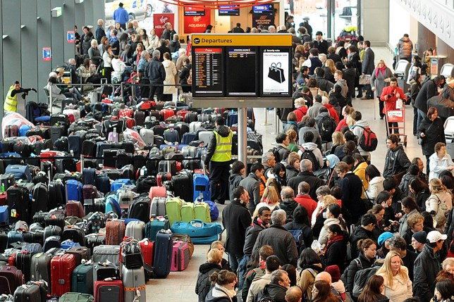 Travellers were warned to expect chaos over the Christmas period (Picture: AFP/Getty)