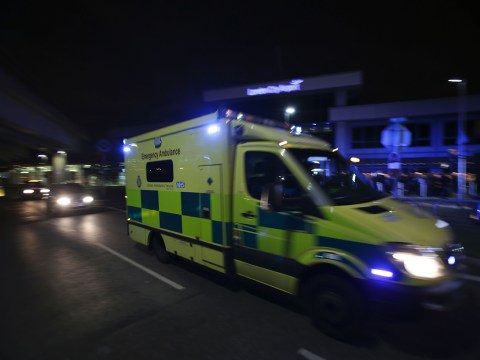 Man in serious condition after jumping from moving ambulance
