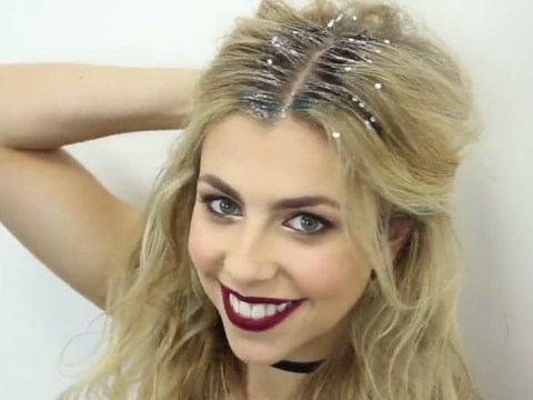 How to create a glitter parting that's perfect for Christmas parties