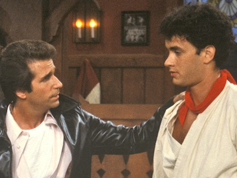 Remember when Tom Hanks picked a fight with the Fonz on Happy Days?