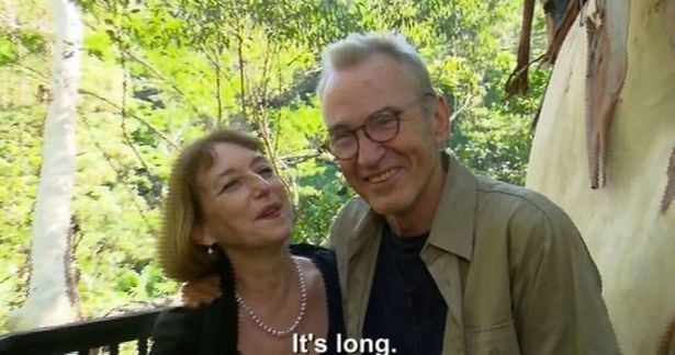 Larry Lamb was greeted by his new 'lover' on I'm A Celebrity bridge after 'splitting from partner of 20 years'