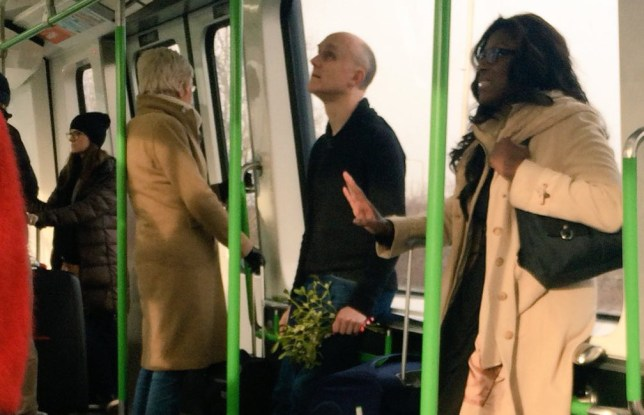 real life love actually moment mistletoe to airport