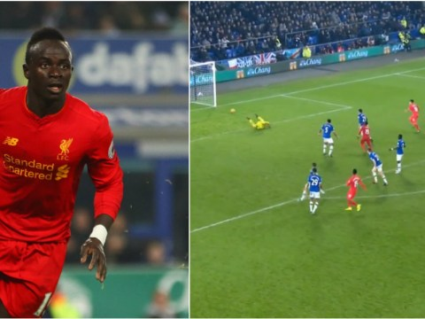 Liverpool matchwinner Sadio Mane was outside the box when Daniel Sturridge let fly