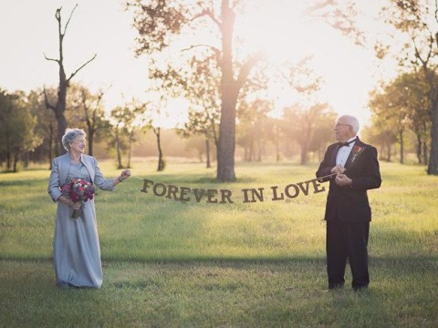 This couple waited 70 years to have their wedding photos taken