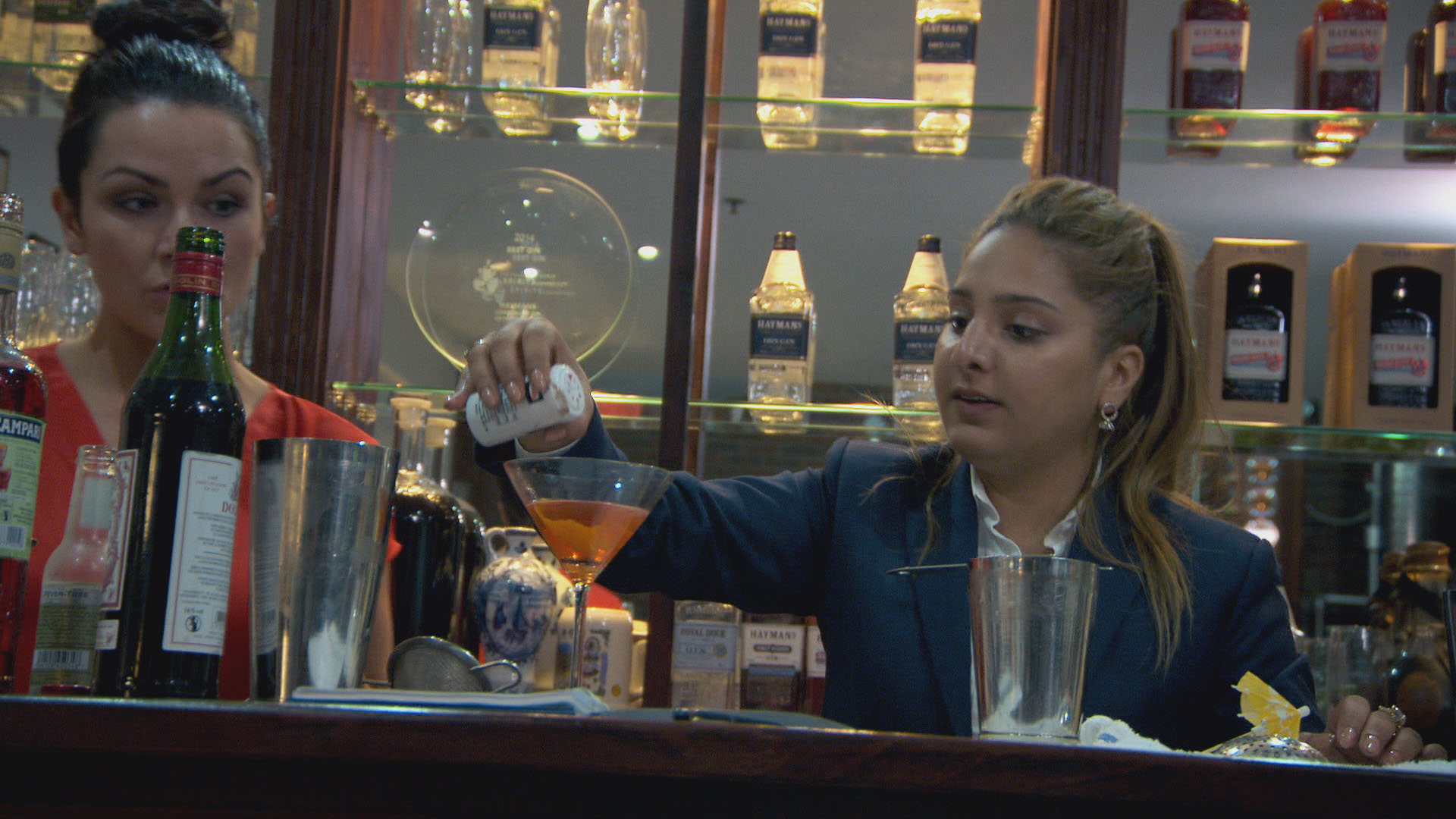 The Apprentice candidates drank too much gin on a task and it turned out as you'd expect