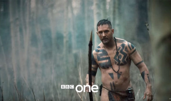 Tom Hardy gets naked in Taboo (Picture: BBC)