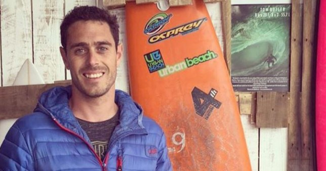 (Picture:Instgram/ Tommybutts) British surfer seriously injured trying to tackle monster wave