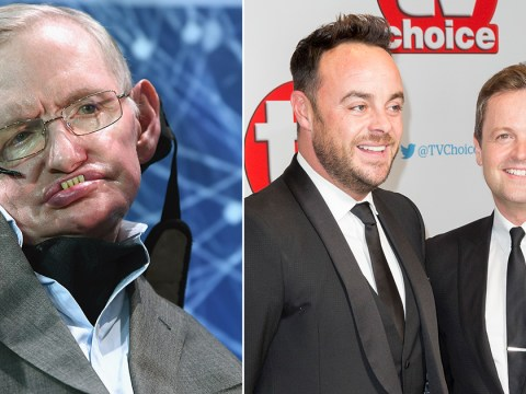 Professor Stephen Hawking actually contacted Ant and Dec after THAT sketch