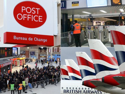 Strikes hit rail, post and air services in run-up to Christmas