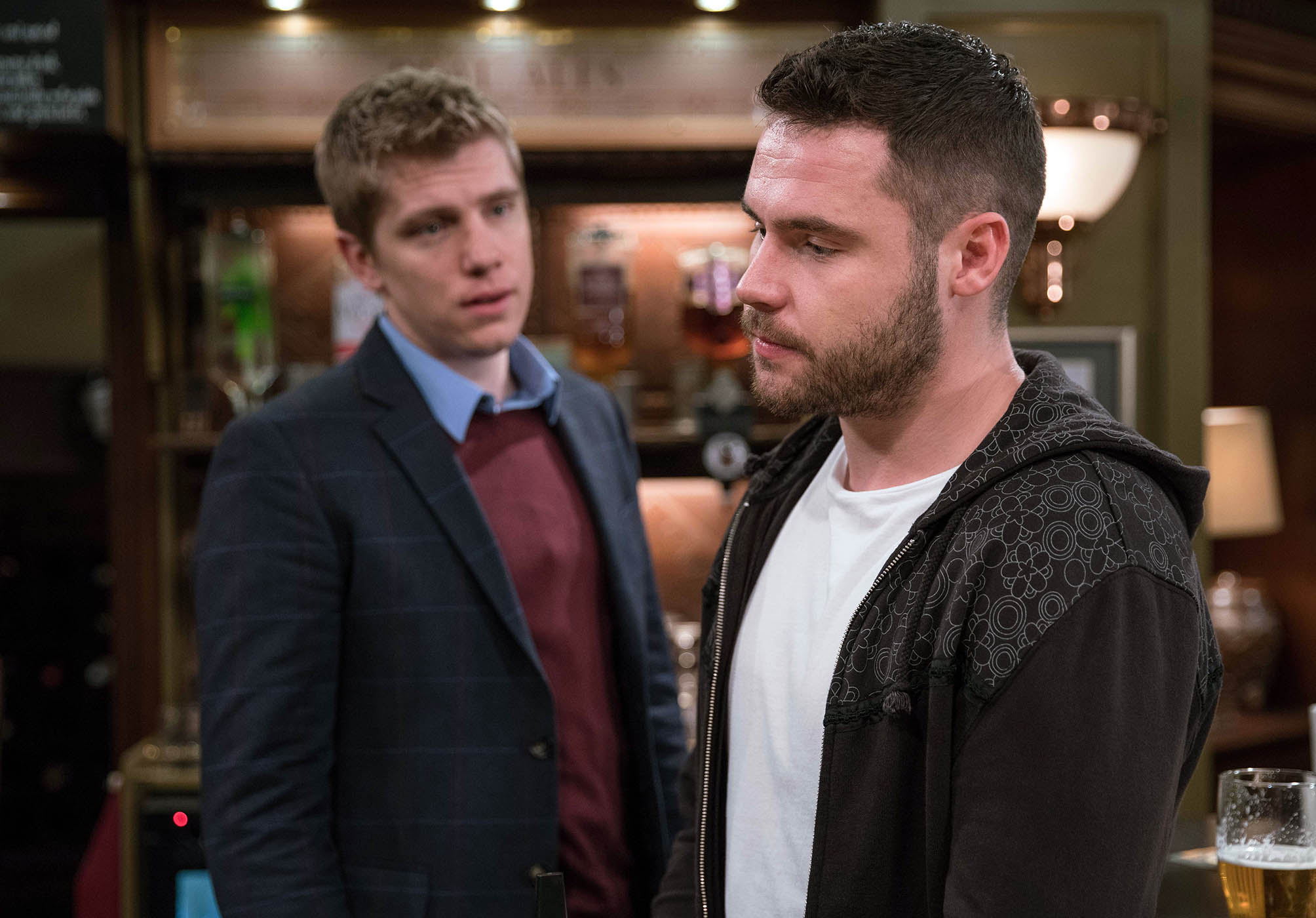 FROM ITV STRICT EMBARGO - No Use Tuesday 31 January 2017 Emmerdale - 7746 Friday 10 February 2016 Aaron Dingle in a manner which alters the visual appearance of the person photographed deemed detrimental or inappropriate by ITV plc Picture Desk. This photograph must not be syndicated to any other company, publication or website, or permanently archived, without the express written permission of ITV Plc Picture Desk. Full Terms and conditions are available on the website www.itvpictures.com