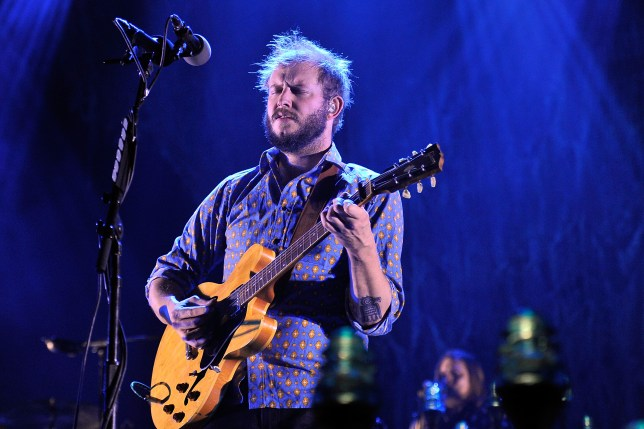 LONDON, ENGLAND - NOVEMBER 08: Justin Vernon of Bon Iver performs at Wembley Arena on November 8, 2012 in London, England. (Photo by Matt Kent/WireImage)