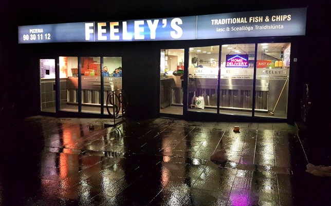 A delivery driver dropped off flu tablets for a sick customer (Picture: Facebook/Feeleys Chippy)