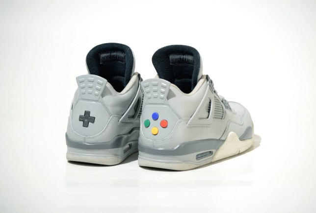 c60ced087b8e Limited edition Super Nintendo Air Jordan 4 sneakers from Freaker ...