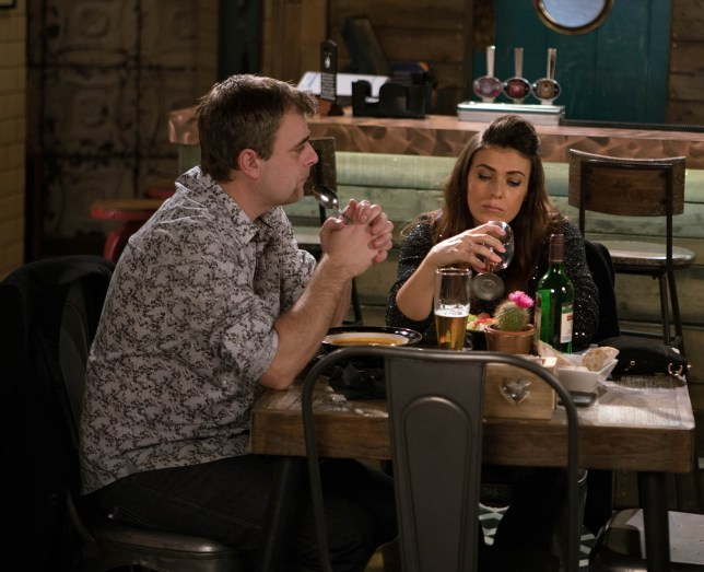 FROM ITV STRICT EMBARGO - No Use before Sunday 15th January 2017 Coronation Street - Ep 9084 Monday 23 January 2017 - 1st Ep Michelle struggles to contain her grief As Michelle and Steve struggle to come to terms with the loss of their baby son Ruairi viewers will see the trauma further taking its toll on their marriage. Over lunch at the bistro Michelle hits the bottle hard. Michelle doesnÕt take well to SteveÕs request for her to slow down and as her grief spirals out of control she begins a public meltdown which sees Michelle storm out of the bistro and into the night on her own. Dealing with his own grief, and the guilt of knowing that Leanne is carrying his unborn child, SteveÕs at his wits end. Can the couple come together and find a way through their pain or will Michelle look elsewhere for comfort? Press Contact: rachel.newton@itv.com Picture contact: david.crook@itv.com on 0161 952 6214 Photographer - Mark Bruce This photograph is (C) ITV Plc and can only be reproduced for editorial purposes directly in connection with the programme or event mentioned above, or ITV plc. Once made available by ITV plc Picture Desk, this photograph can be reproduced once only up until the transmissionin a manner which alters the visual appearance of the person photographed deemed detrimental or inappropriate by ITV plc Picture Desk. This photograph must not be syndicated to any other company, publication or website, or permanently archived, without the express written permission of ITV Plc Picture Desk. Full Terms and conditions are available on the website www.itvpictures.com