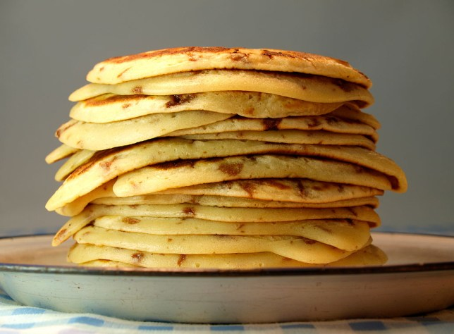 Stack Of Drop Scone Or Scotch Pancakes. (Photo By: Education Images/UIG via Getty Images)