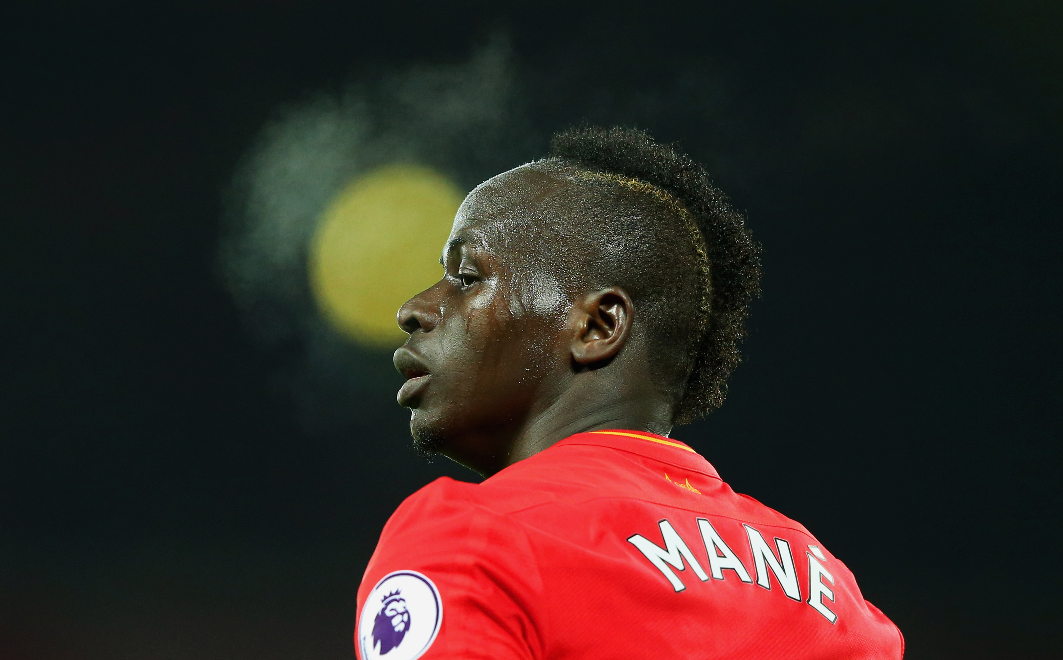 LIVERPOOL, ENGLAND - DECEMBER 27:  Sadio Mane of Liverpool looks on during the Premier League match between Liverpool and Stoke City at Anfield on December 27, 2016 in Liverpool, England.  (Photo by Alex Livesey/Getty Images)