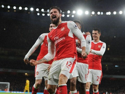 Olivier Giroud has a much better strike rate than Alexis Sanchez this season