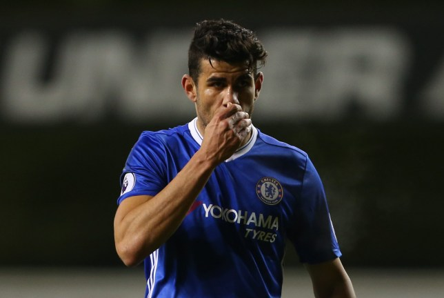 LONDON, ENGLAND - JANUARY 04: A dejected looking Diego Costa of Chelsea during the Premier League match between Tottenham Hotspur and Chelsea at White Hart Lane on January 4, 2017 in London, England. (Photo by Catherine Ivill - AMA/Getty Images)