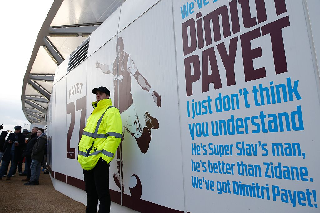 West Ham fans turn on wantaway star Dimitri Payet with x-rated lyrics to his signature chant