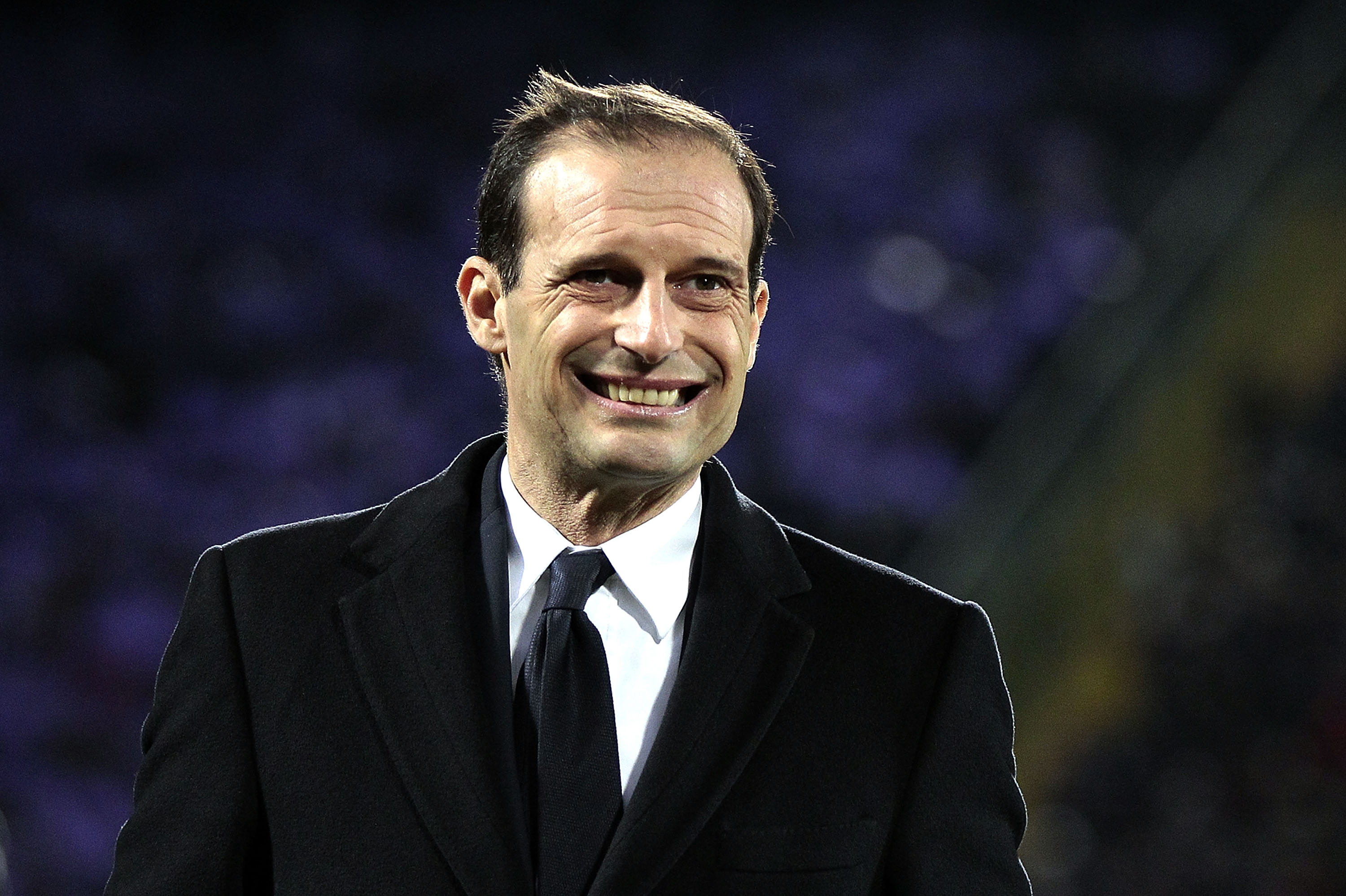 FLORENCE, ITALY - JANUARY 15: Massimiliano Allegri head coach of Juventus FC reacts during the Serie A match between ACF Fiorentina and Juventus FC at Stadio Artemio Franchi on January 15, 2017 in Florence, Italy.  (Photo by Gabriele Maltinti/Getty Images)