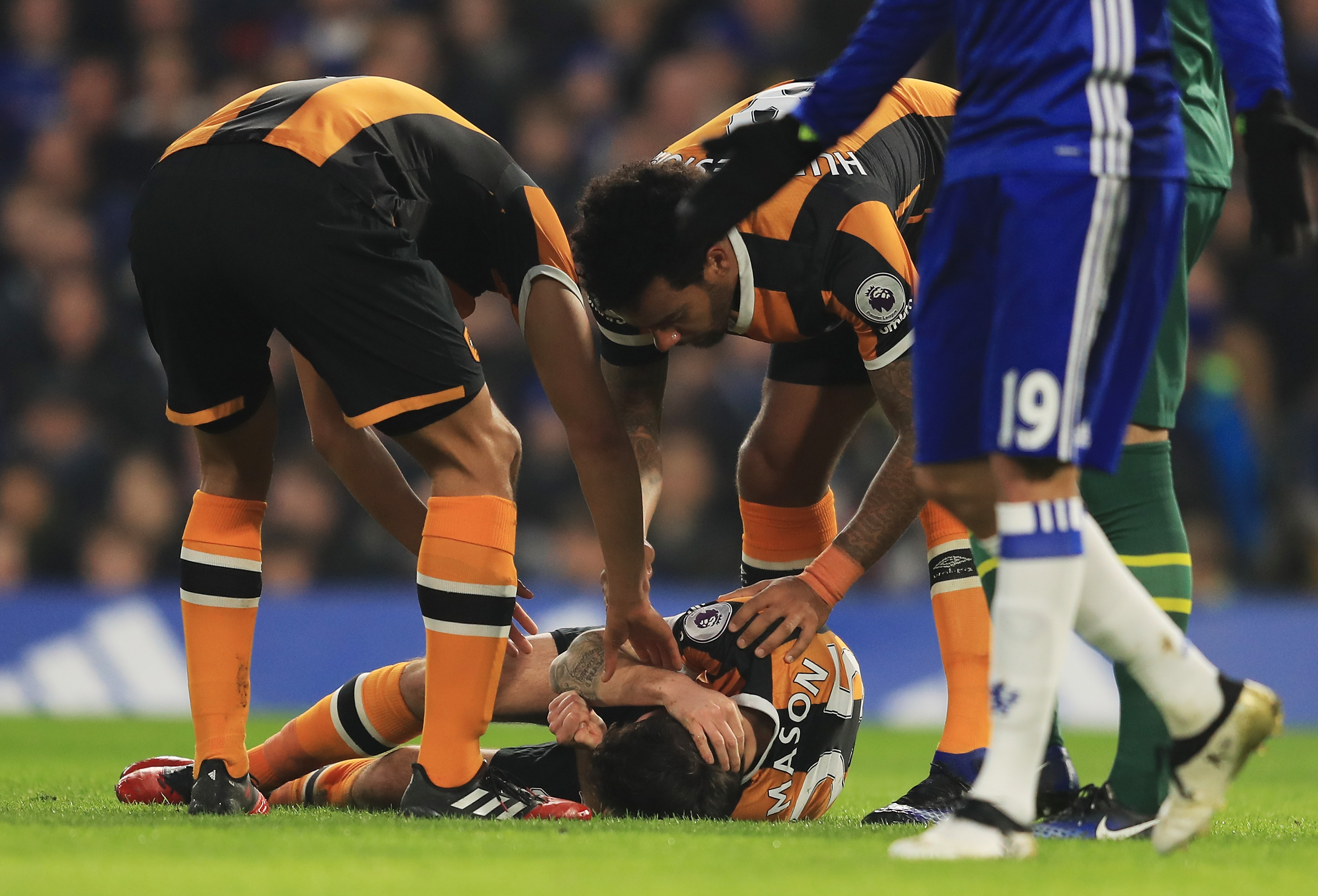 Chelsea captain John Terry posts message of support to Ryan Mason after sickening head injury