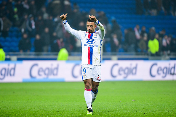Memphis Depay of Lyon makes his debut during the French Ligue 1 match between Olympique Lyonnais and Olympique de Marseille at Stade des Lumieres on January 22, 2017 in Decines-Charpieu, Lyon, France. (Photo by Dave Winter/Icon Sport) (Photo by Dave Winter/Icon Sport via Getty Images)